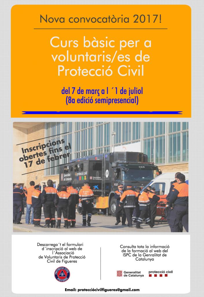 8a convocatòria Curs bàsic per a voluntaris/es de protecció civil 2017