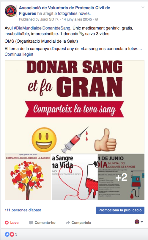 Donar sang FB