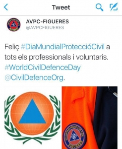 Dia mundial protecció civil 2016